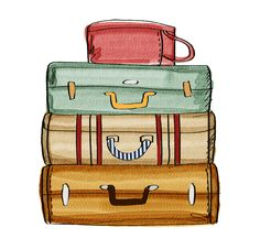 Stacked luggage png.