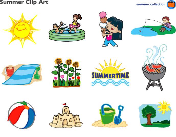 Summer cartoon clip.