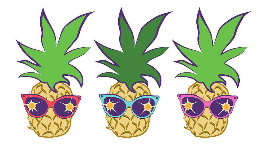 Summer pineapples wearing.