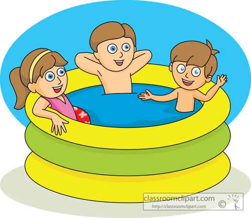 Kids summer swimming.