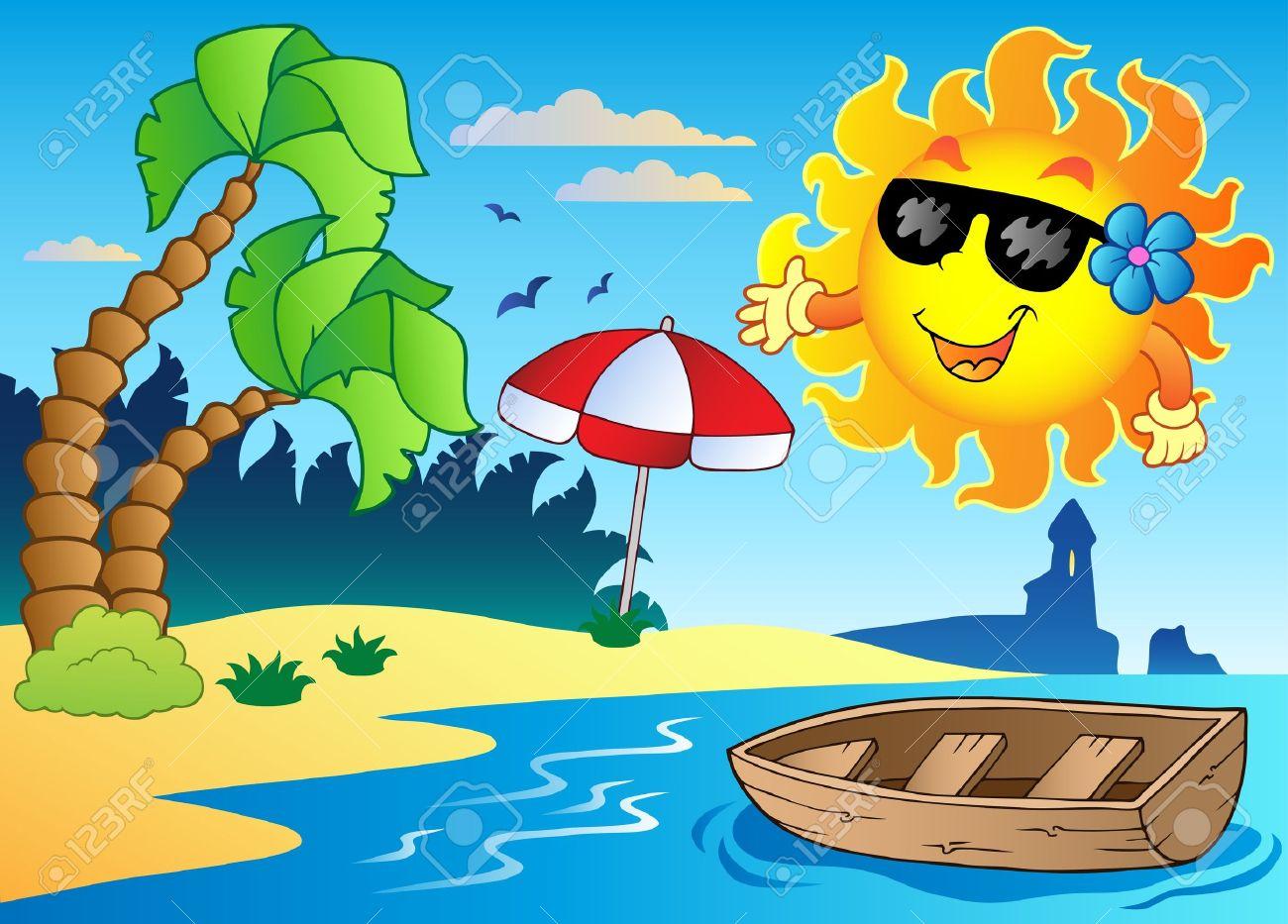 Summer season clipart.