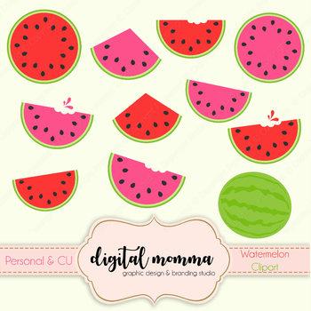 Watermelon fruit clipart.