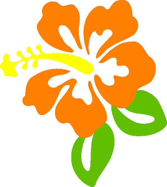 Orange flower clipart free.