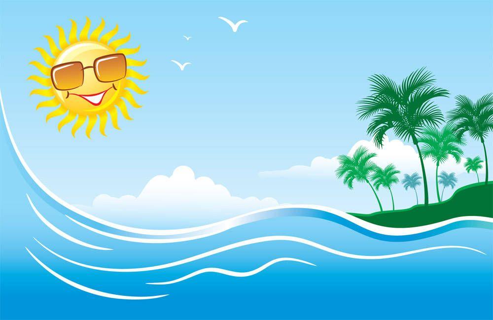 Summer sun hot.