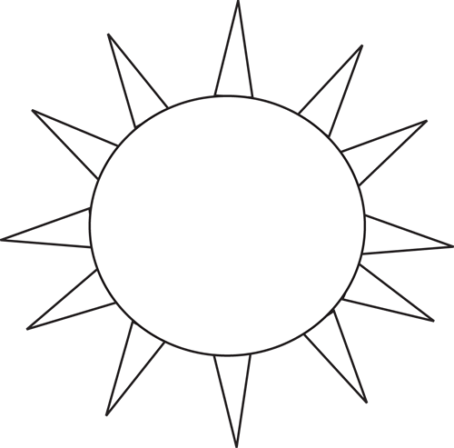 Black and White Black and White Sun for Letter S