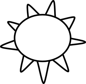 Sun clipart black.