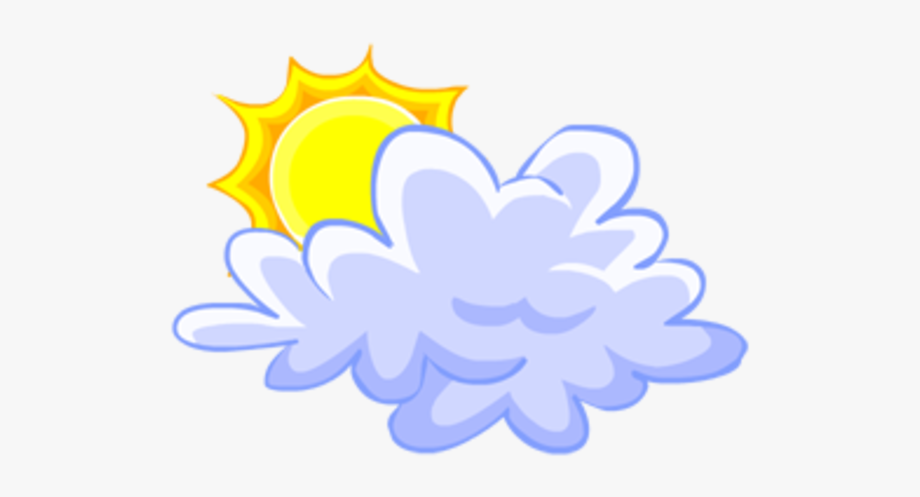 Cloud And Sun Clipart