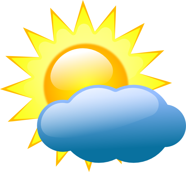 SUMMER SUN AND CLOUD CLIP ART
