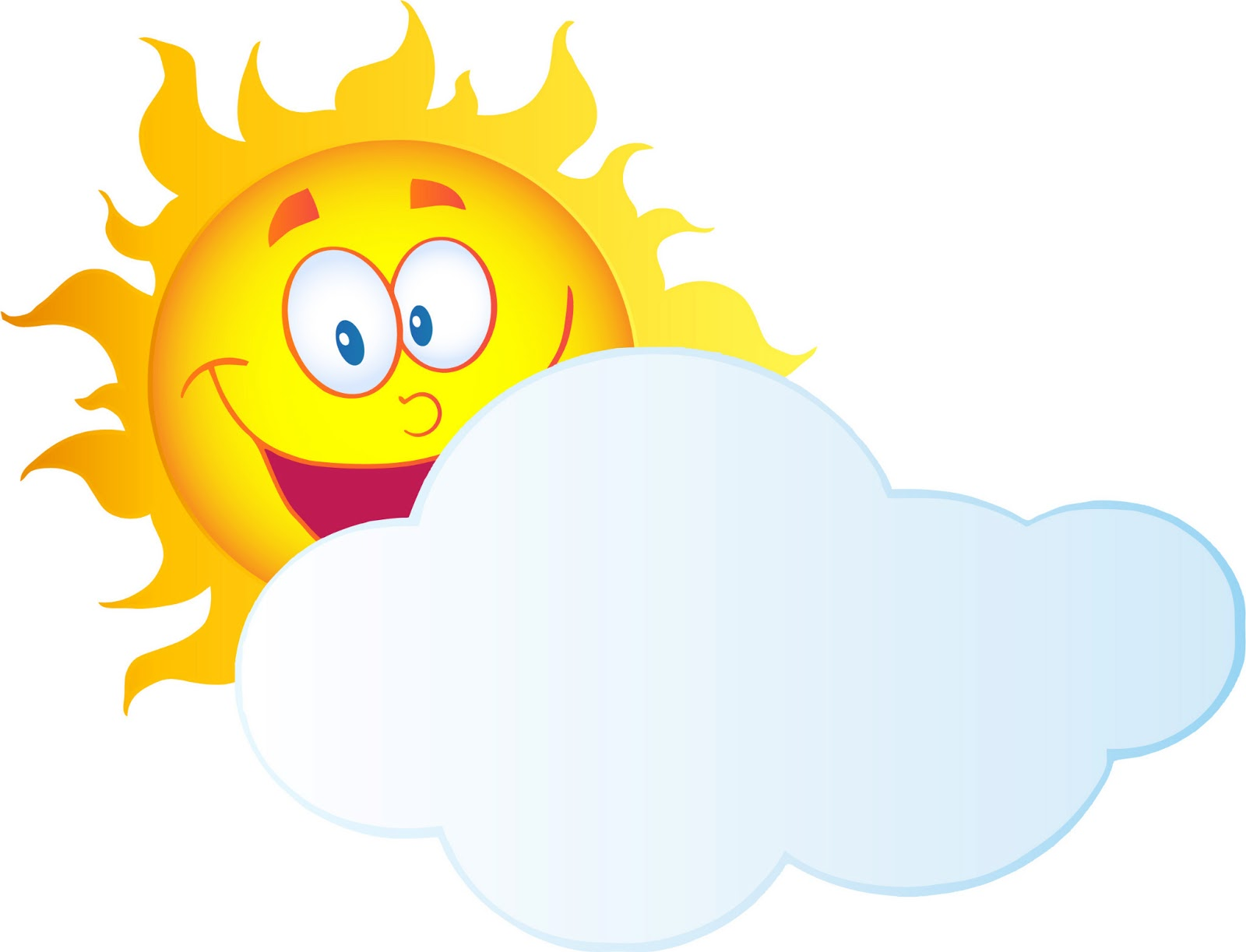Best Sun And Clouds Clipart