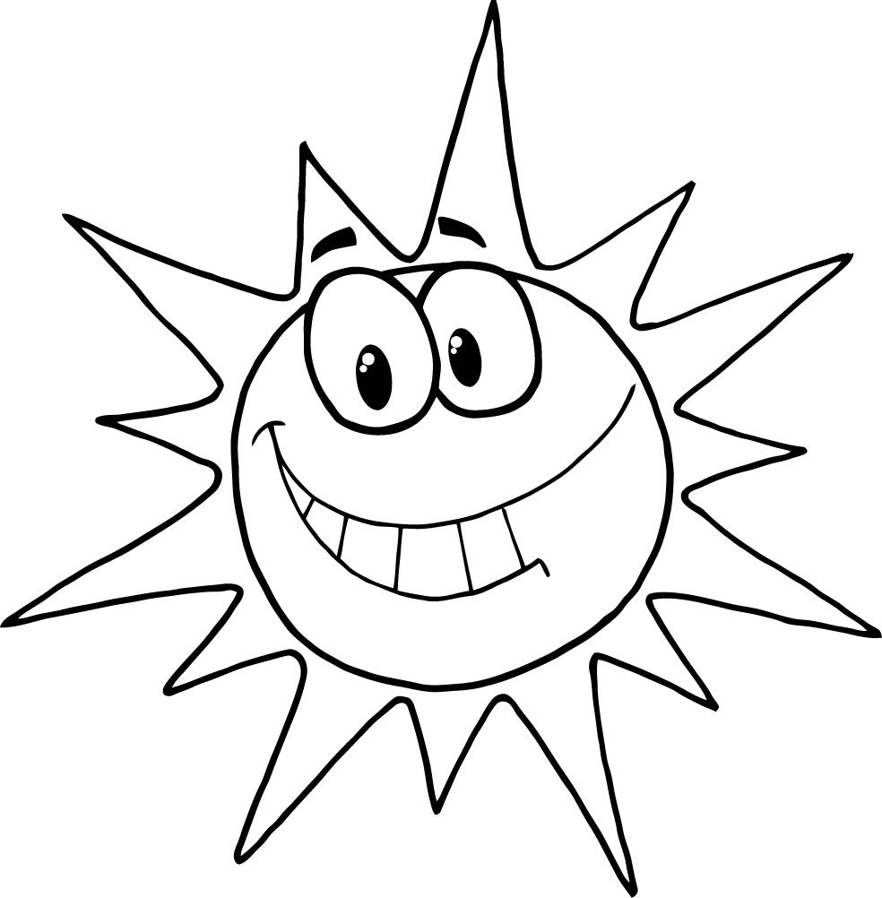 Free Coloring Page Of A Sun, Download Free Clip Art, Free
