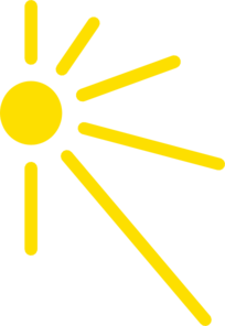 Sun corner clipart.