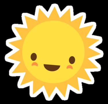 Cute kawaii sun.