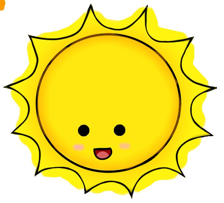 Kawaii sun clipart