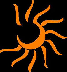 Orange Sun Clipart