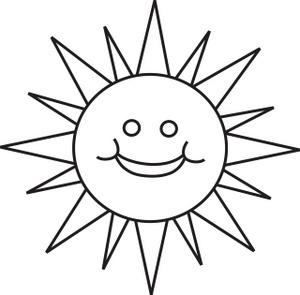 Clipart Sun Outline
