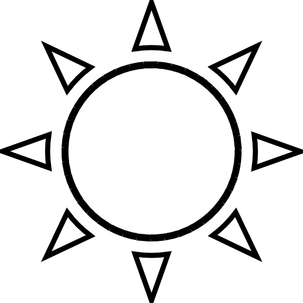 Free Sunshine Outline Cliparts, Download Free Clip Art, Free