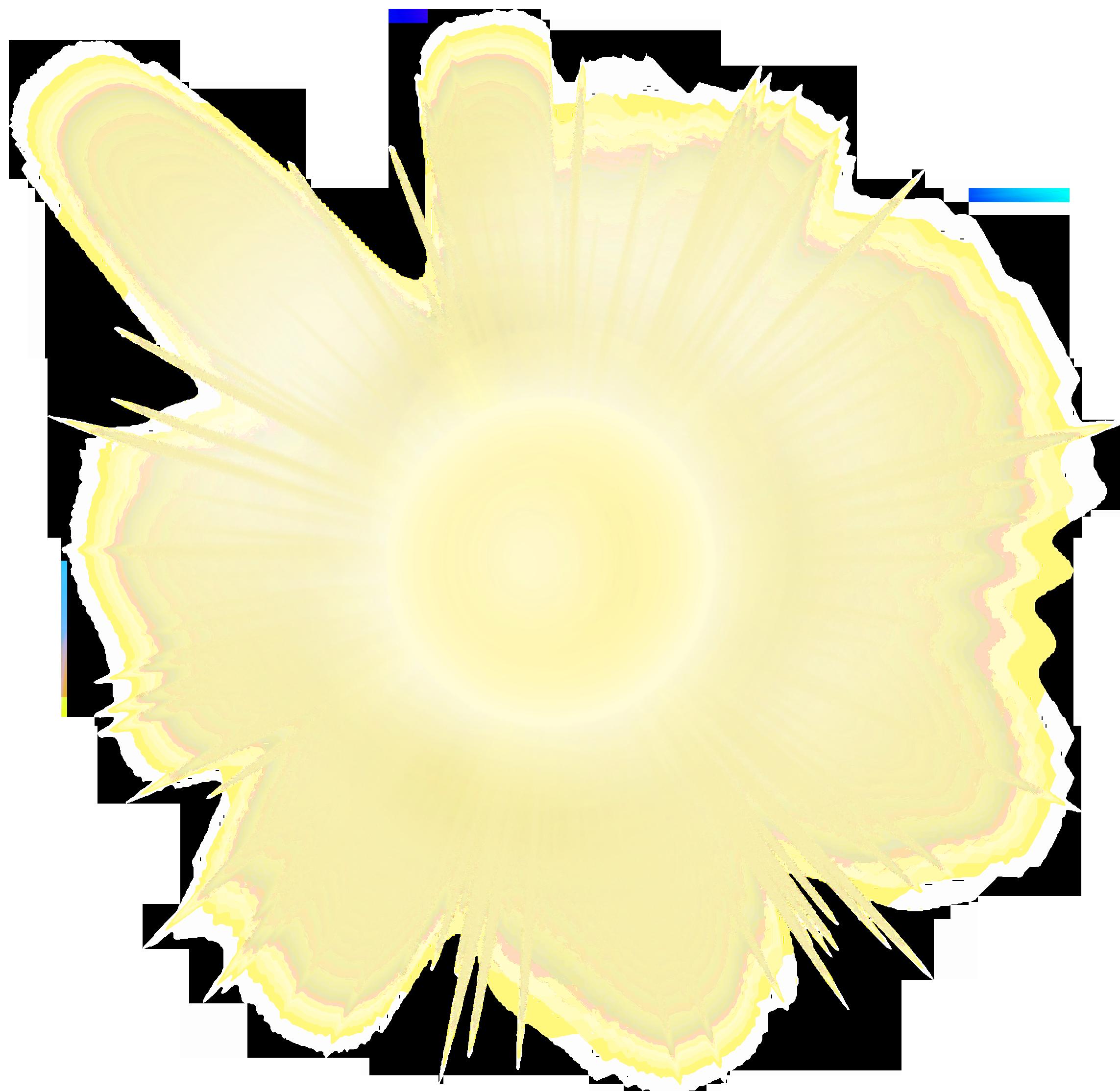 Transparent realistic sun.
