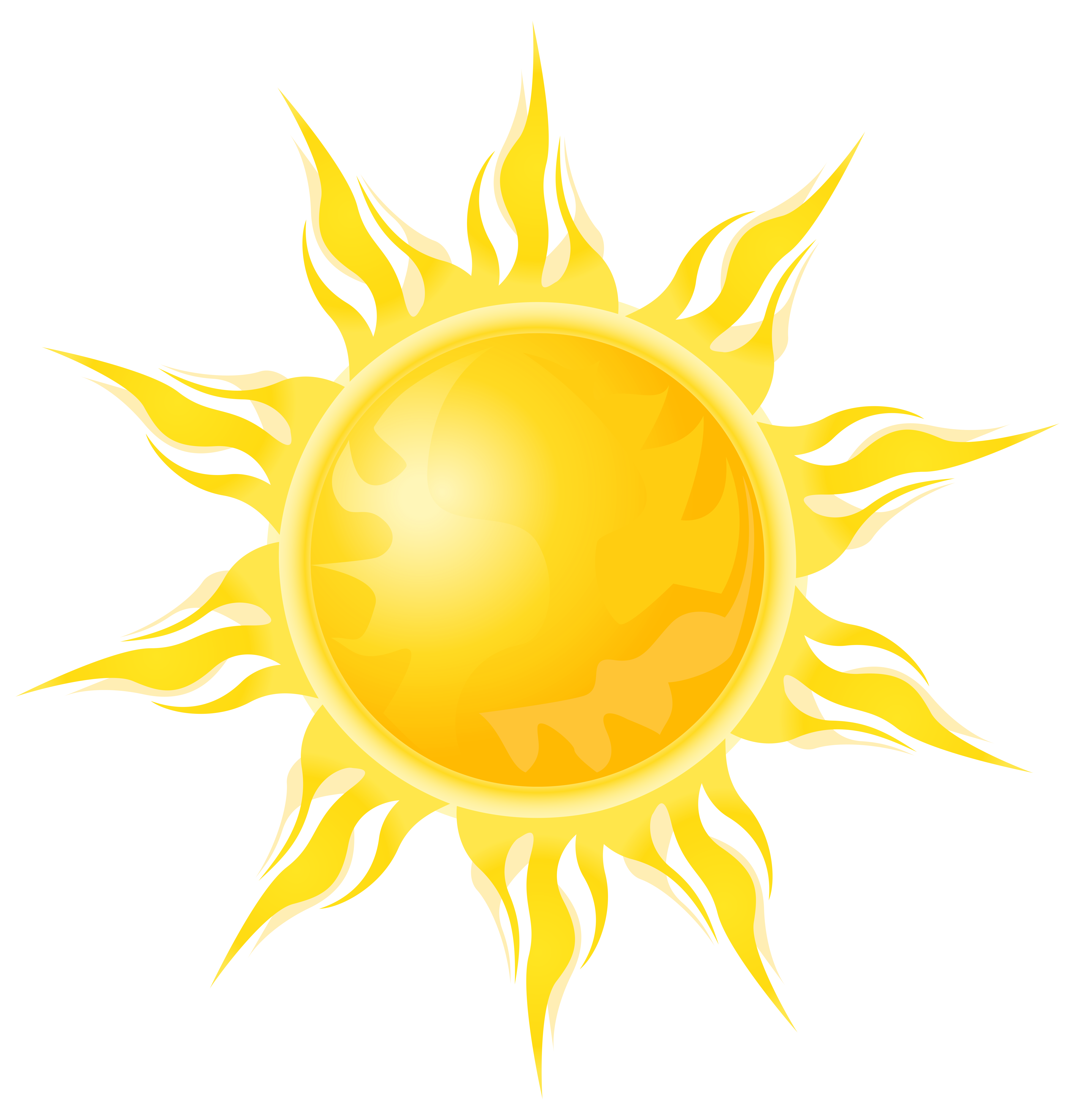 Transparent sun png.