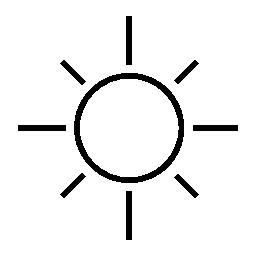 Simple sun clipart.