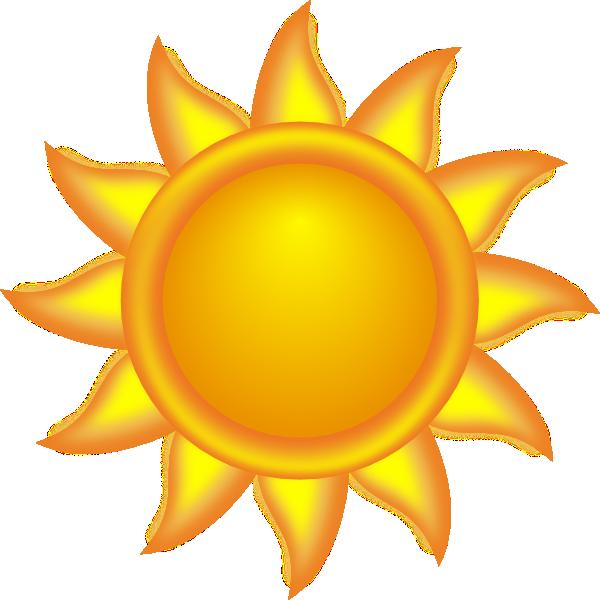Decorative sun clip.