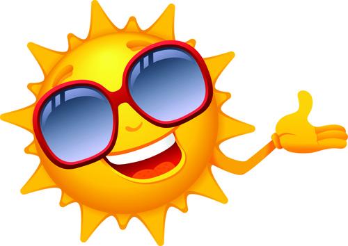 Summer sun clip art free vector download