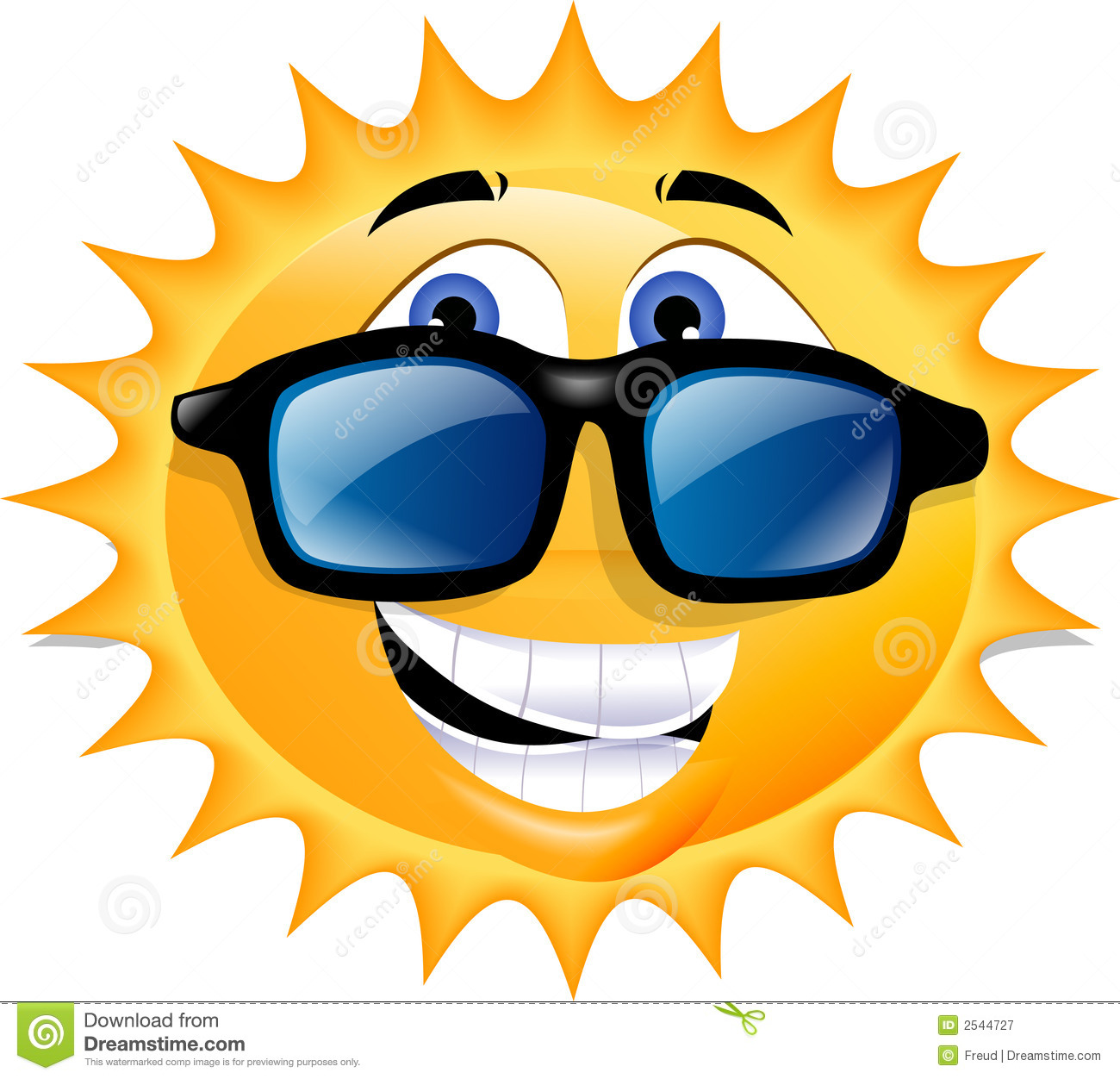 Sun With Sunglasses Clip Art
