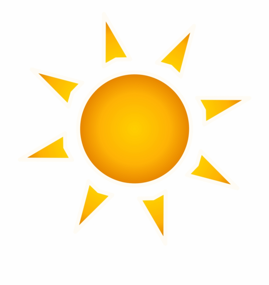 Sun vector png.