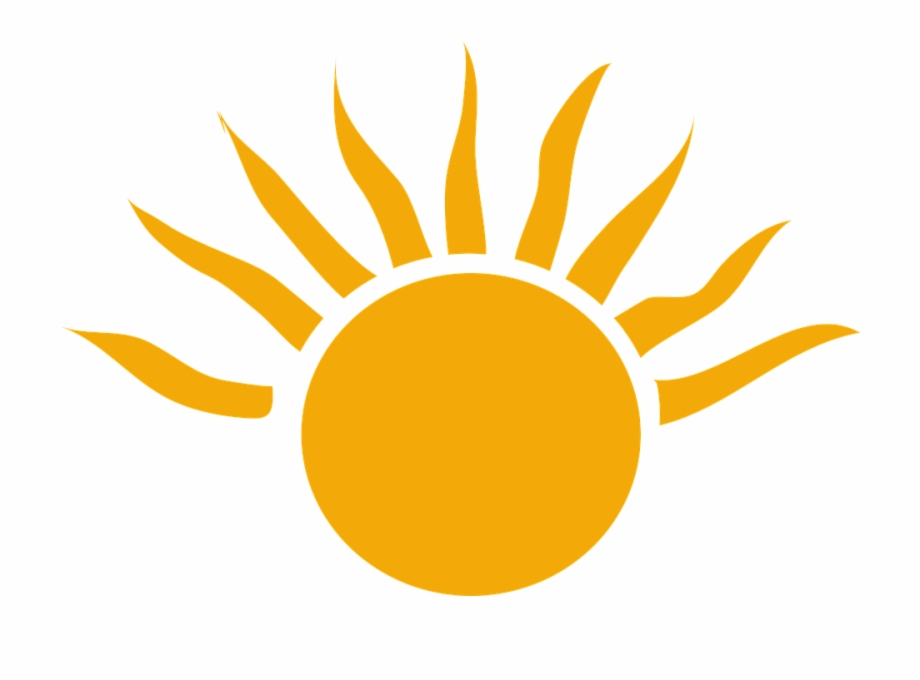 Sun clipart transparent.