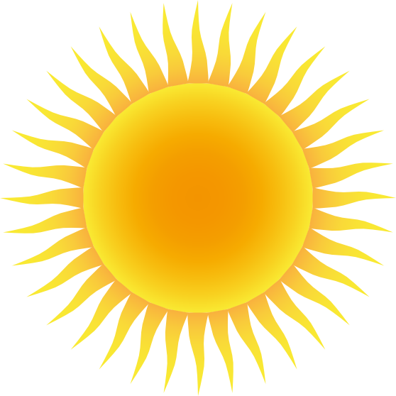 Clipart sun clear.