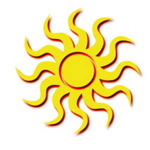 Graphic art sun.