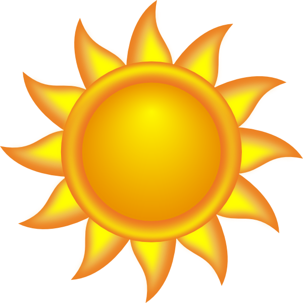 Sun clipart decorative.