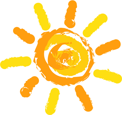 Elements of summer sun vector art Free vector in