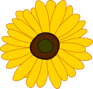 Free sunflowers cliparts.