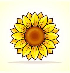 Sunflower clipart vector.