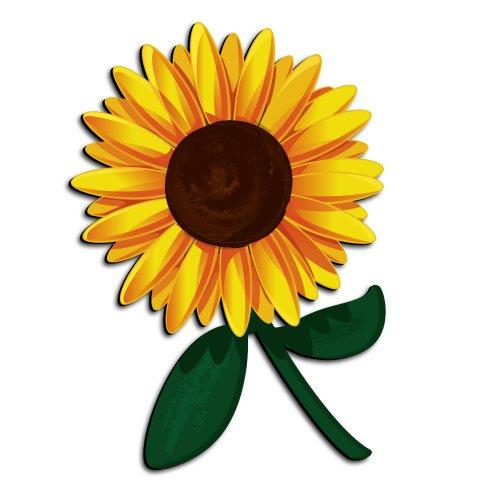 Free cartoon sunflower.