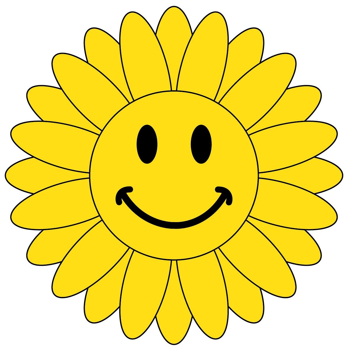 Smiley clipart sunflower.