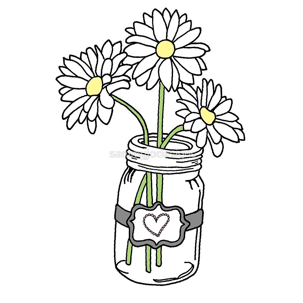 Mason jar sunflower.