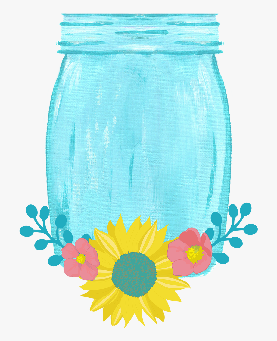 Drawn mason jar.