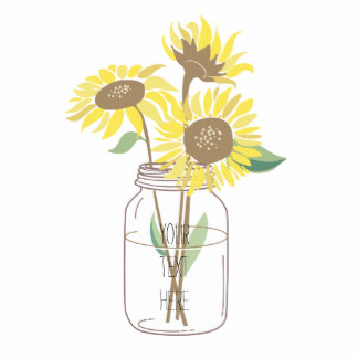 Sunflower mason jar clip.