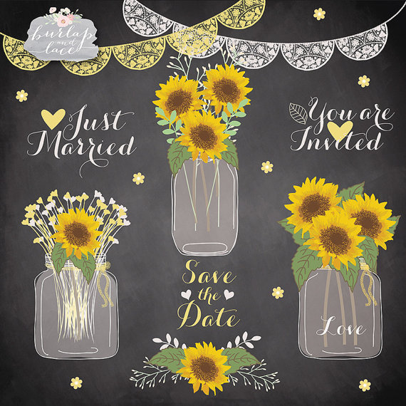 Sunflowers clipart wedding.