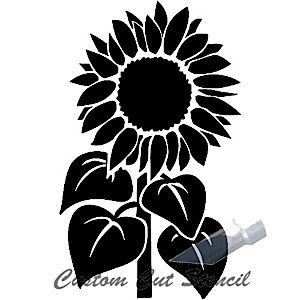 Sunflower stem silhouettes.