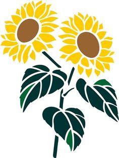 Best sunflower stencil.