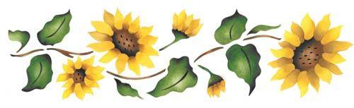 Sunflower border wall.