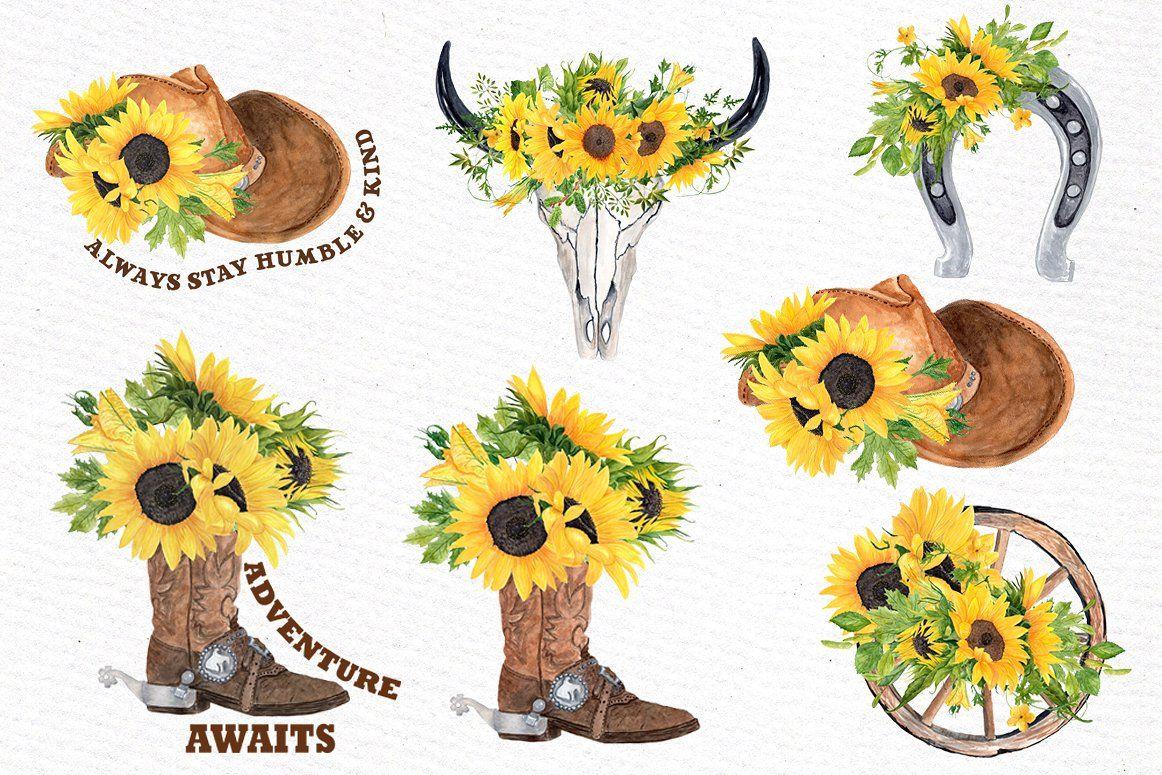 Sunflower clipart western.