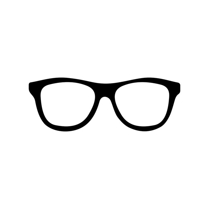 Hipster glasses graphics.
