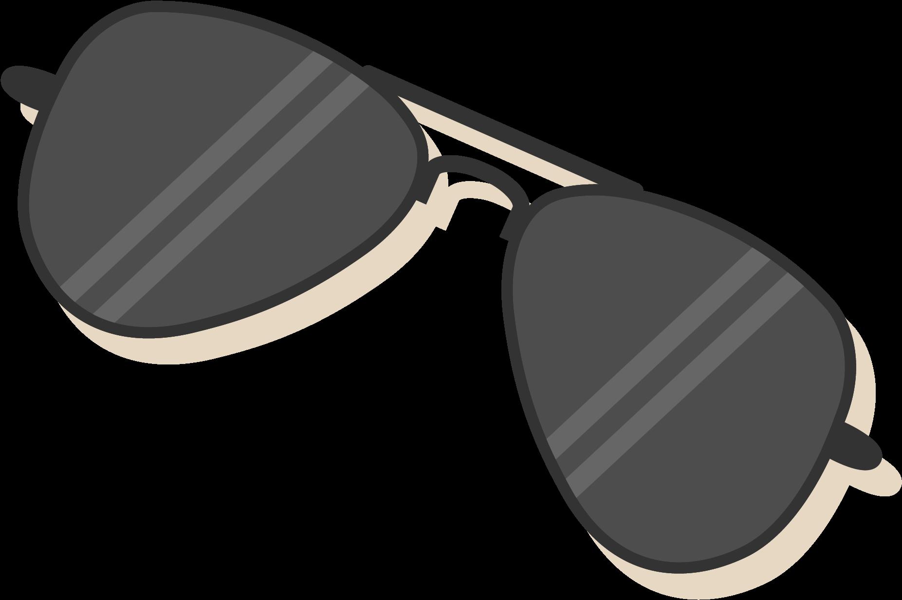 Cartoon sunglasses clipart.