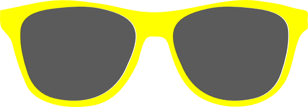 Bright yellow sunglasses.