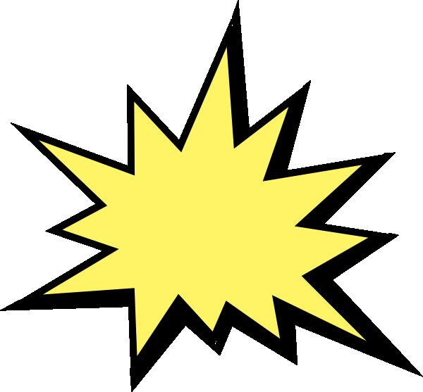 Starburst sign template.