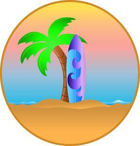 Hawaiian palm trees.