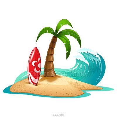 Palm tree beach.
